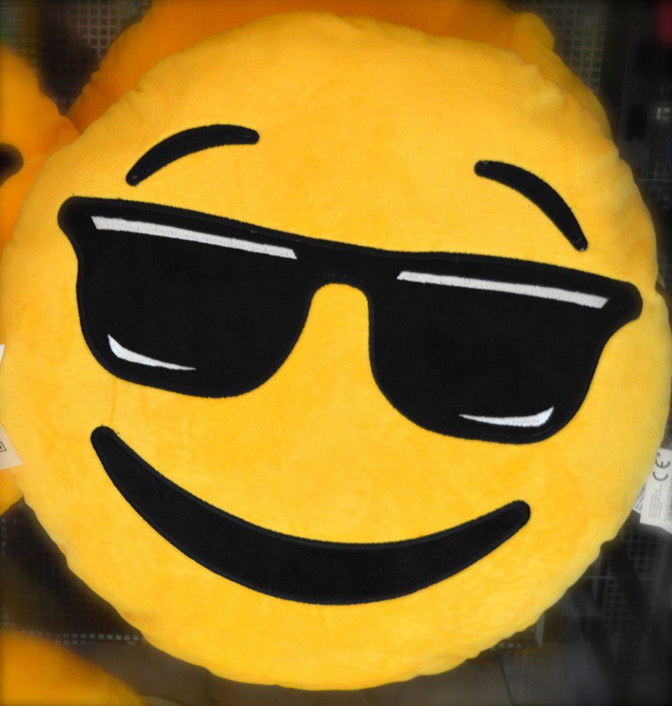 Emoji Kissen Cool Sonnenbrille