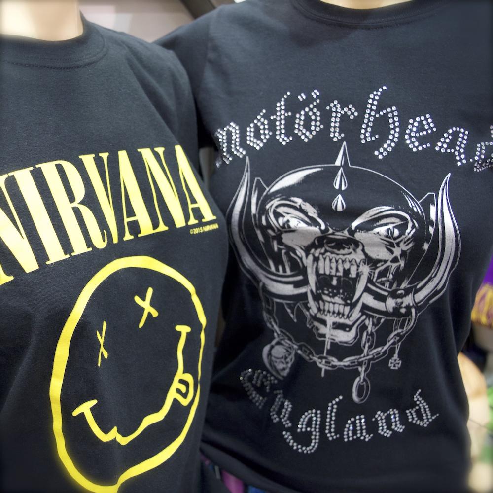 Nirvana Motoerhead TShirts Berlin fanworld