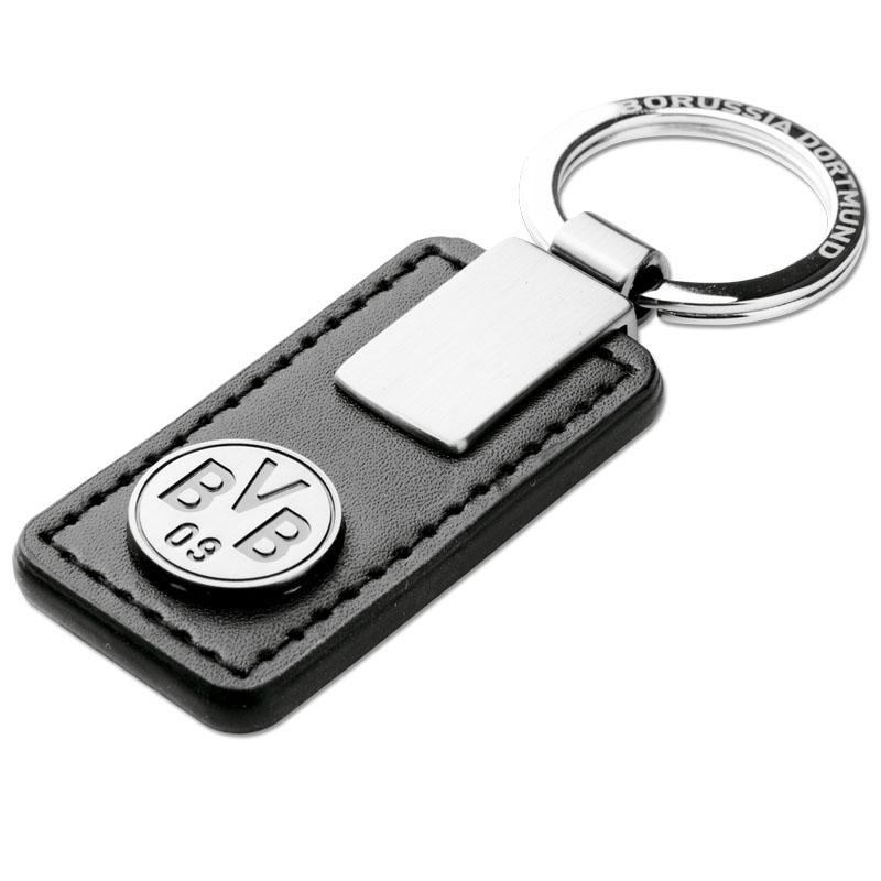 BVB Schlüsselanhänger Leder