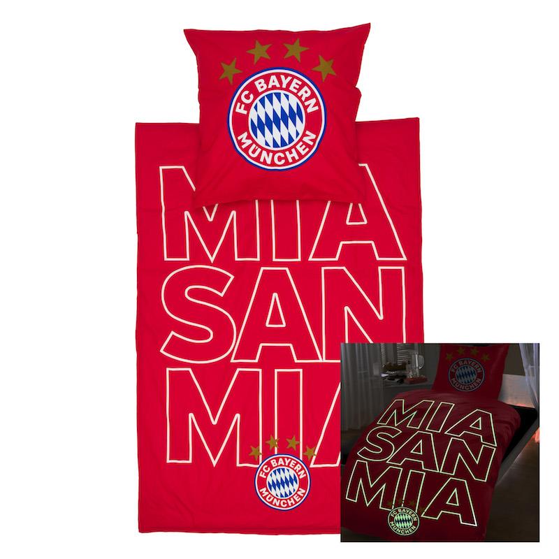 Bayern München Bettwäsche im Dunkeln leuchtend