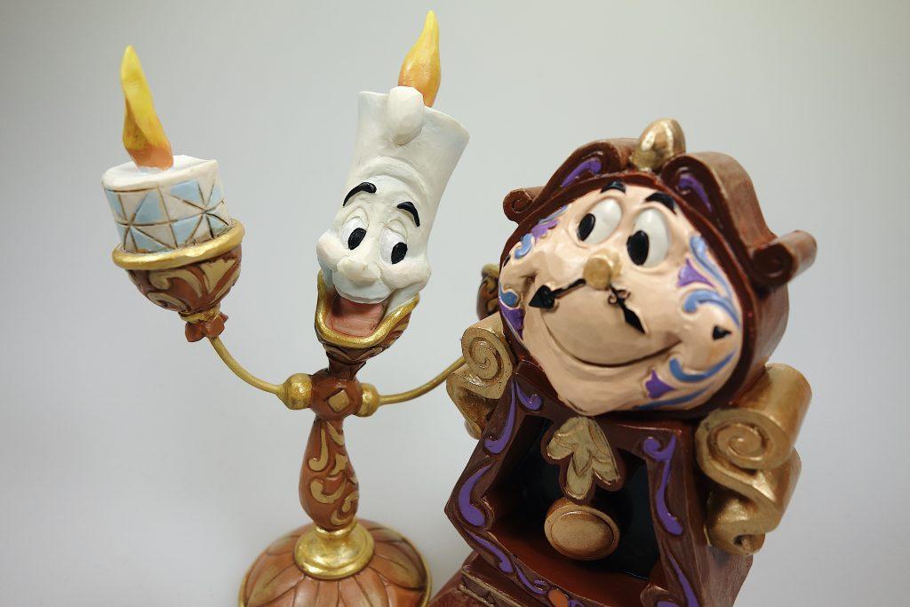 """Lumiere und Herr Von Unruh """"Die Schöne und das Biest"""" Disney Sammelfiguren"""