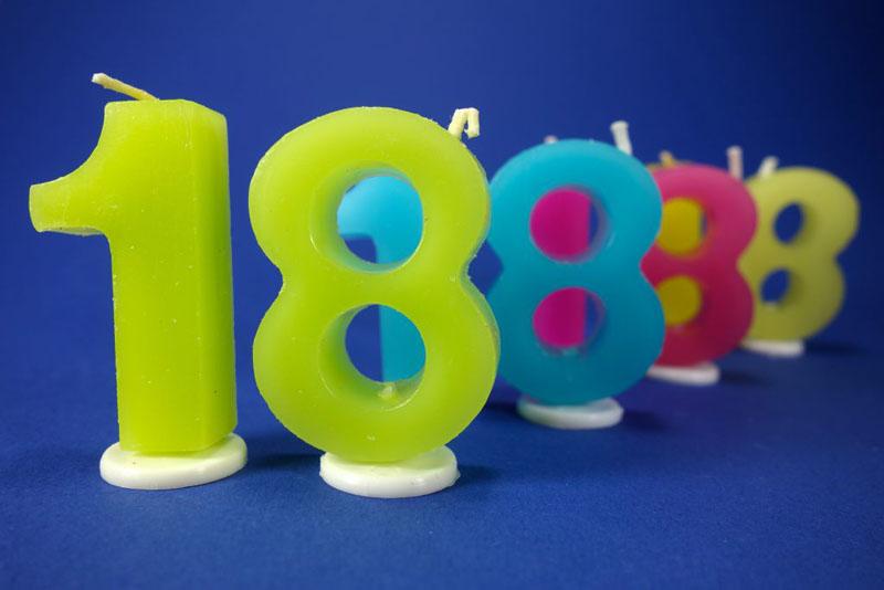 Geburtstagskerzen 18