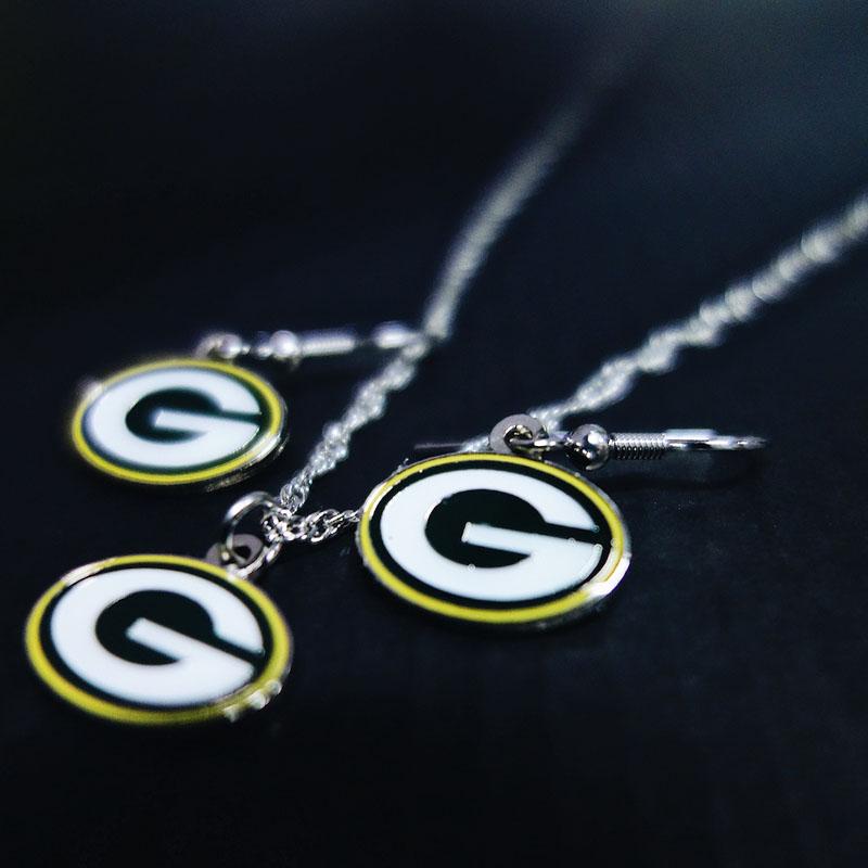 Green Bay Packers Ohrringe und Halskette