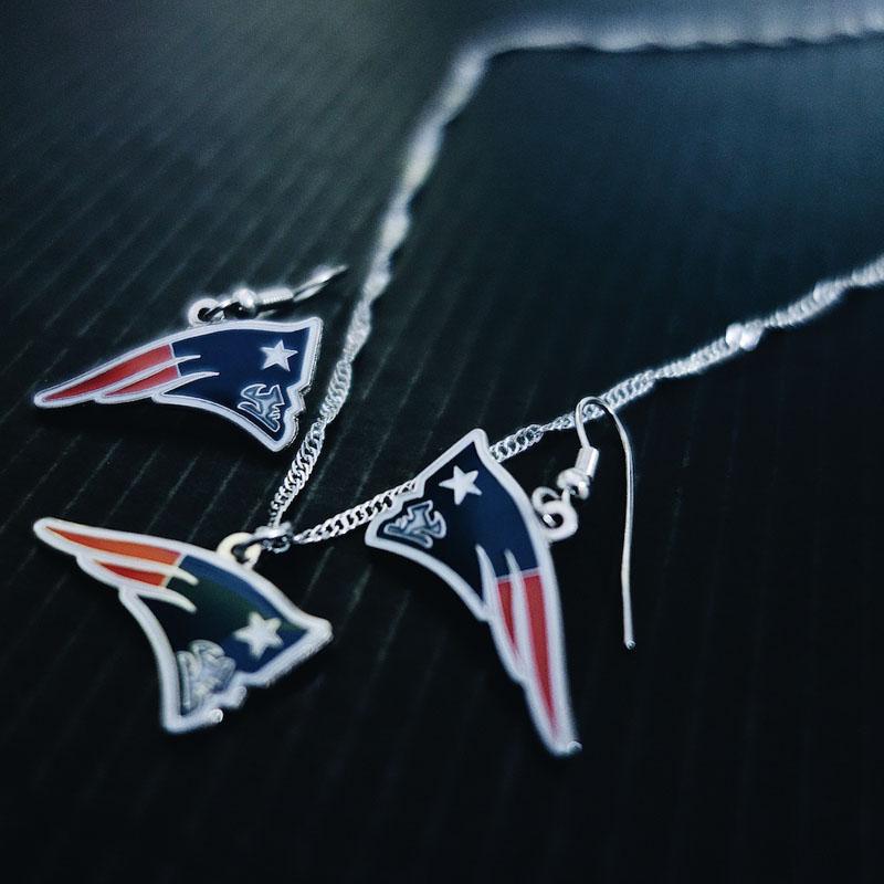 New England Patriots Ohrringe und Halskette