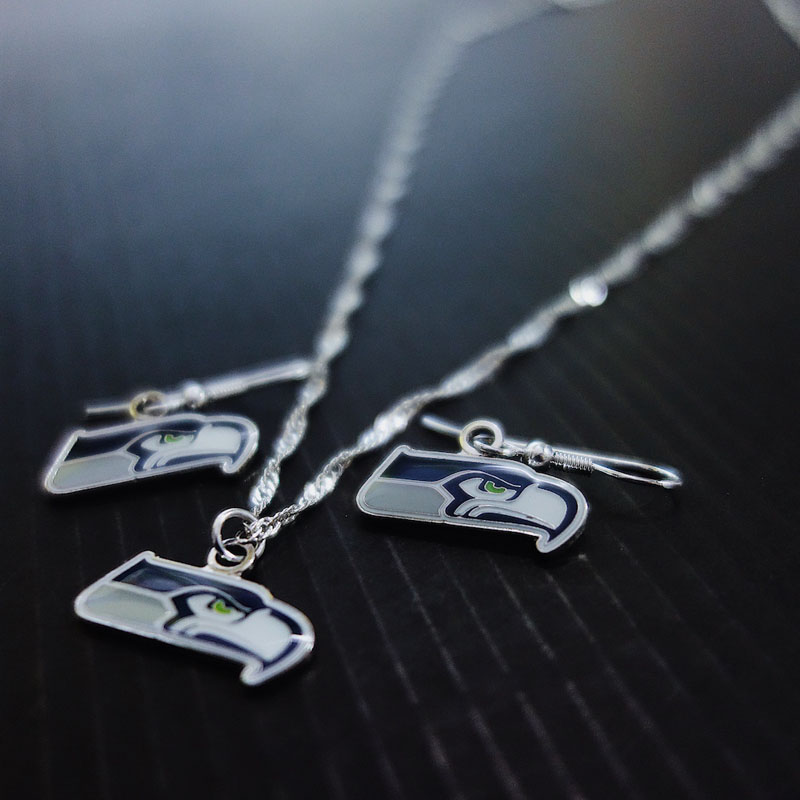 Seattle Seahawks Ohrringe und Halskette