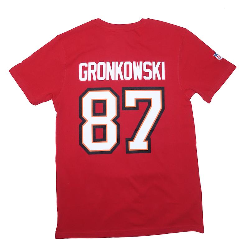 Tampa Bay Buccaneers T-Shirt Gronkowski rot
