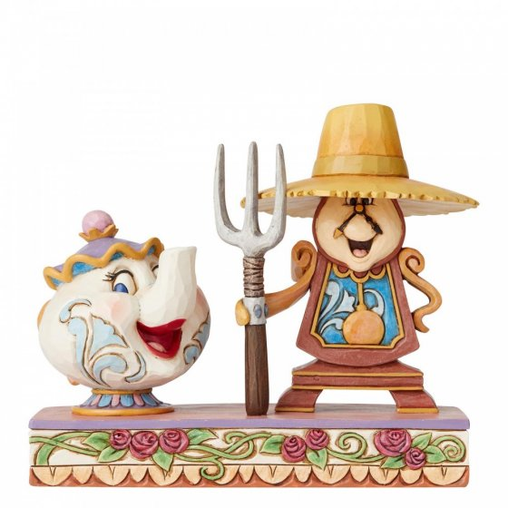 Sammelfigur Beauty and the Beast Cogsworth and Mrs. Potts