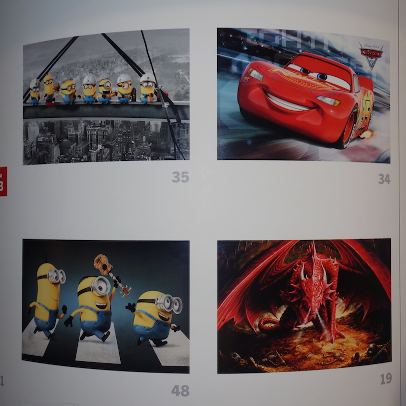 mehrere Poster Minions, Cars, Drachen