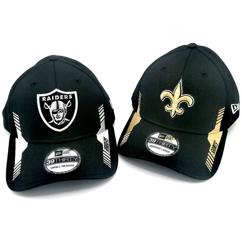 NFL Caps Raiders, Saints